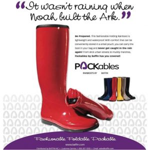 Женские сапоги Baffin Rubber Boot Red